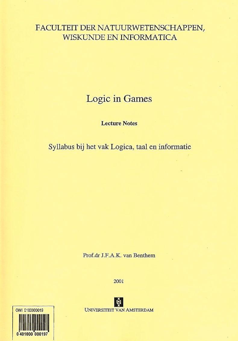 Johan van benthem publications logic and games biocorpaavc Image collections